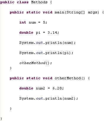 Methods in Java Revisited