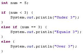 How to write if else statements in java