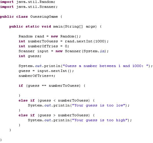 Guessing Game - Fun Example Game With Basic Java
