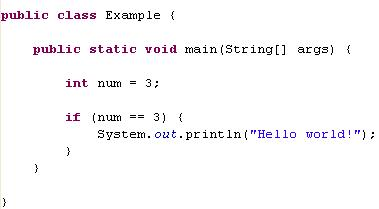 java if statement example