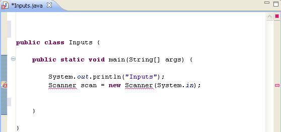 Java Input Using Java Scanner