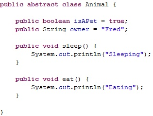 java abstract class tutorial