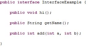 Java interface a java interface likewise cannot be made into an object either so lets see what an interface looks like malvernweather Image collections