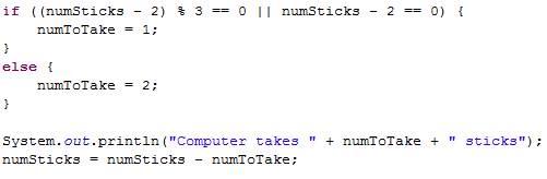 Making a fun Java game - 21 Sticks Game